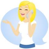 Dziewczyna na telefonie ilustracji
