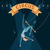 Dziewczyna na trapeze Obraz Stock