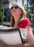 dziewczyna na uniwersytet Zdjęcia Stock
