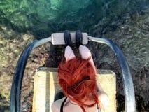 Dziewczyna na wodzie Obraz Stock