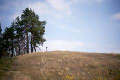 Dziewczyna na wzgórzu Zdjęcie Royalty Free