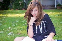 dziewczyna na zewnątrz dosyć Obraz Royalty Free