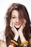 dziewczyna nad nastoletnim biel Obraz Royalty Free