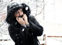 dziewczyna śnieg Zdjęcia Royalty Free