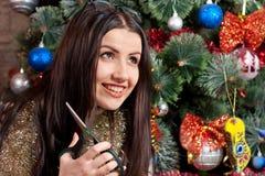 dziewczyna nożyce Zdjęcia Stock
