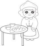 Dziewczyna obok stołowej kolorystyki strony Zdjęcia Royalty Free