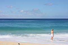 dziewczyna ocean Pacific Zdjęcia Royalty Free