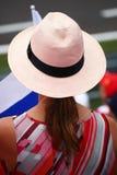 Dziewczyna od Finlandia w Monza F1 Uroczysty Prix 2018 obrazy stock