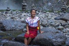 Dziewczyna od Ifugao mniejszości etnicznej w Filipiny Obraz Royalty Free