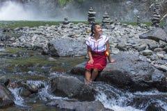 Dziewczyna od Ifugao mniejszości etnicznej w Filipiny Obraz Stock