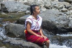 Dziewczyna od Ifugao mniejszości etnicznej w Filipiny Fotografia Stock