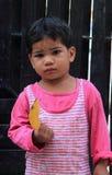 Dziewczyna odwiedza centrum dla edukaci w Jaipur, India Zdjęcie Stock