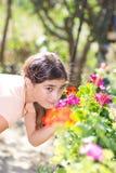 dziewczyna ogrodowa Zdjęcia Royalty Free