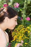 dziewczyna ogrodowa Zdjęcie Royalty Free