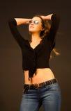 dziewczyna okulary przeciwsłoneczne Obraz Royalty Free