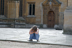 dziewczyna Oxford zdjęcie stock