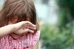 Dziewczyna płacz. zdjęcia royalty free