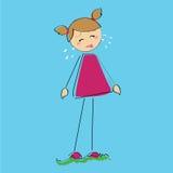 Dziewczyna płacz ilustracja wektor