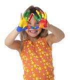 dziewczyna palcowy obraz Fotografia Stock
