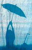dziewczyna parasol zdjęcia stock