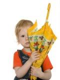 dziewczyna parasol Zdjęcia Royalty Free