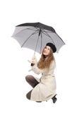 dziewczyna parasol zdjęcie royalty free
