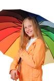 dziewczyna parasol Obrazy Royalty Free