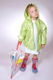 dziewczyna parasolkę Fotografia Royalty Free