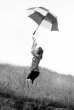 dziewczyna parasolkę Zdjęcia Royalty Free