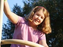 dziewczyna park grać Zdjęcia Stock