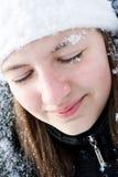 dziewczyna piękny śnieg fotografia royalty free