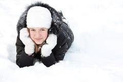 dziewczyna piękny śnieg zdjęcie royalty free