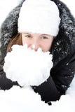 dziewczyna piękny śnieg zdjęcia royalty free