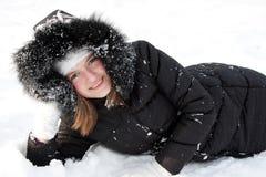 dziewczyna piękny śnieg zdjęcia stock