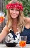 dziewczyna piękny blond hipis zdjęcie royalty free