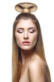 dziewczyna piękny blond włosy tęsk obraz royalty free
