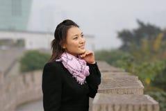 dziewczyna piękny chiński uśmiech Zdjęcia Royalty Free