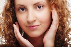 dziewczyna piękny kędzierzawy portret Obraz Royalty Free