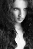 dziewczyna piękny kędzierzawy włosy Zdjęcie Stock