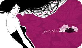 dziewczyna piękny karciany ślub ilustracja wektor