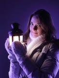 dziewczyna piękny lampion fotografia stock