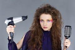 dziewczyna piękny włosy tęsk Zdjęcia Stock