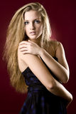 dziewczyna piękny włosy tęsk Zdjęcie Stock