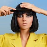 dziewczyna piękny zgrzywiony włosy ona Obraz Royalty Free