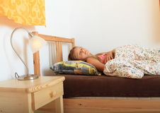 dziewczyna śpi Fotografia Royalty Free