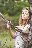 dziewczyna piękni faborki Obrazy Royalty Free