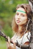 dziewczyna piękni faborki Obraz Royalty Free