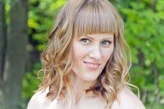 dziewczyna piękny blond portret Zdjęcia Stock
