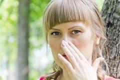 dziewczyna piękny blond portret Obraz Stock