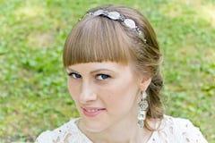 dziewczyna piękny blond portret Zdjęcia Royalty Free
